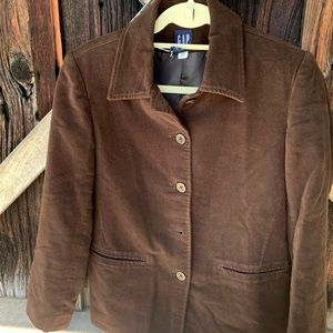 Gap brown velour blazer-XS